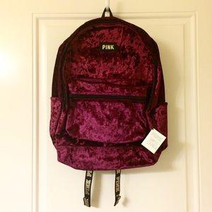 Victorias Secret Pink Campus Backpack Ruby Velvet